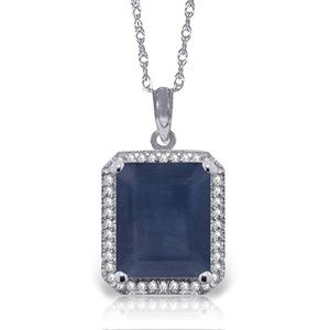 GOLD NECKLACE WITH NATURAL DIAMONDS & SAPPHIRE